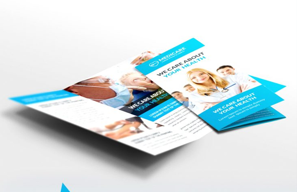 Free PSD Medical Care and Hospital Trifold Brochure Template