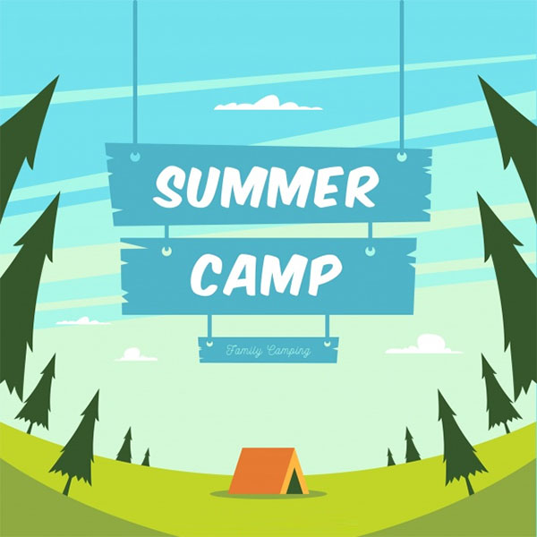 Free PSD Summer Camp Brochure Template