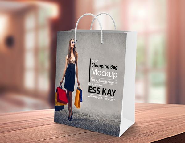 Free Photoshop Shopping Bag Mockup