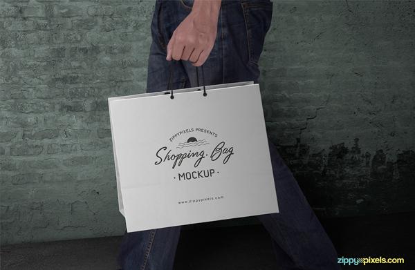 Free Shopping Bag Mockup PSD Template