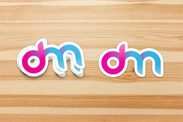Free Sticker Mockup in PSD