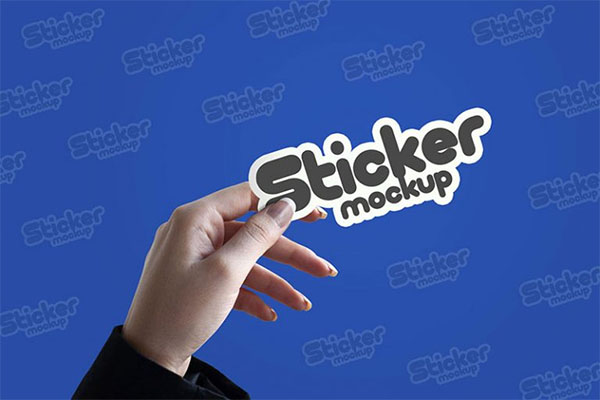 Free Sticker PSD Mockup Design