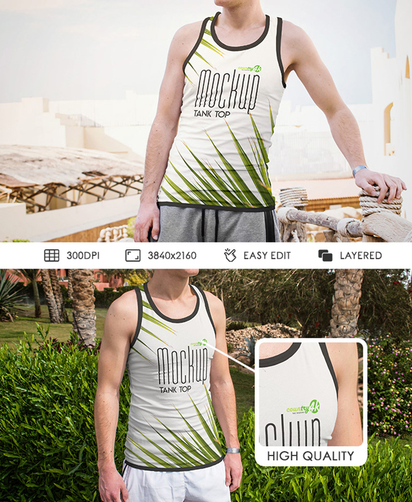 Free Tank Top Photoshop Mockups