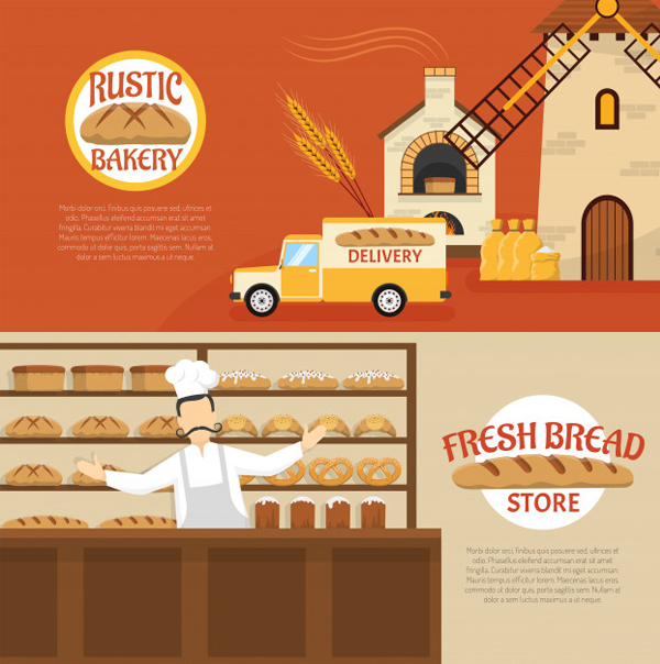 Free Vector Bakery Banner Template