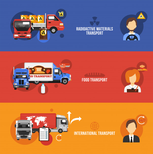 Free Vector Food Truck Banner Template