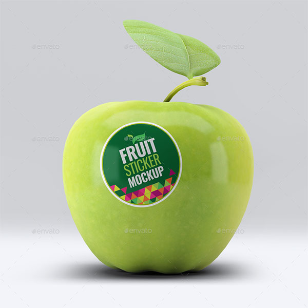 Fruit Sticker Mock-Up