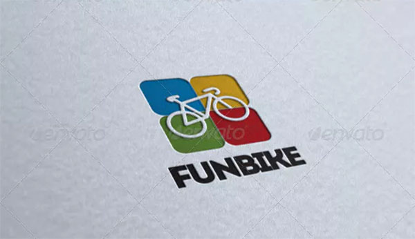 Fun Bicycle Logo Template