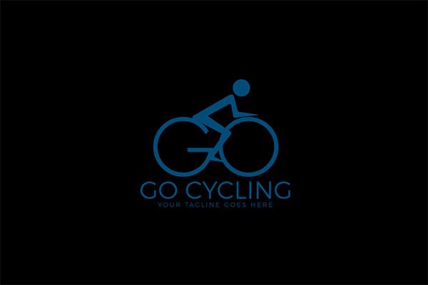 GO Bicycle Vector Logo Design