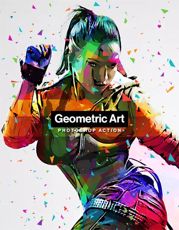 Geometric Art PSD Actions
