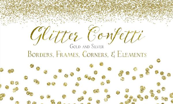 Glitter Confetti Borders and Textures