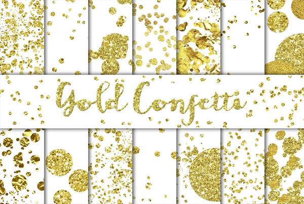 Gold Confetti Textures