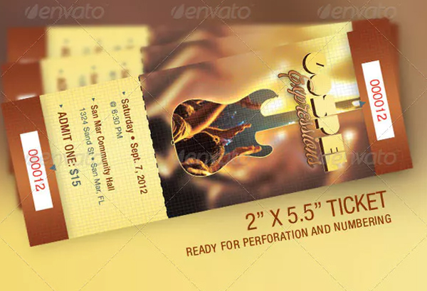 Gospel Expressions Church Ticket Template