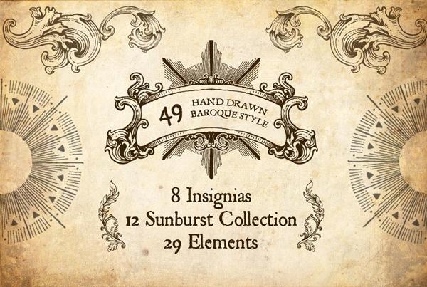 Hand Drawn Baroque Style