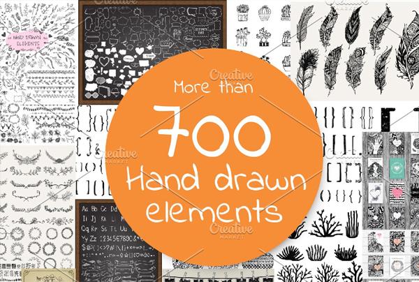 Hand Drawn Elements Bundle