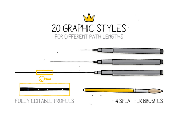Hand Drawn Styles and Brushes