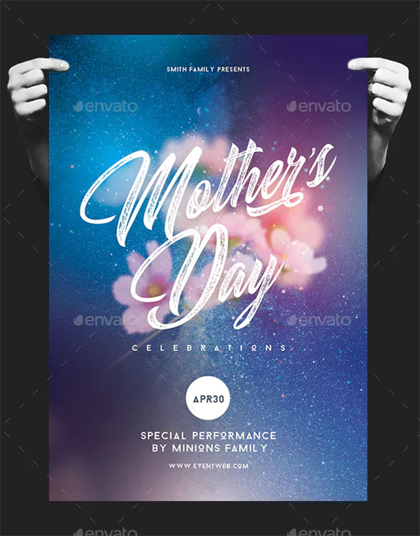 Happy Mother's Day Flyer Design