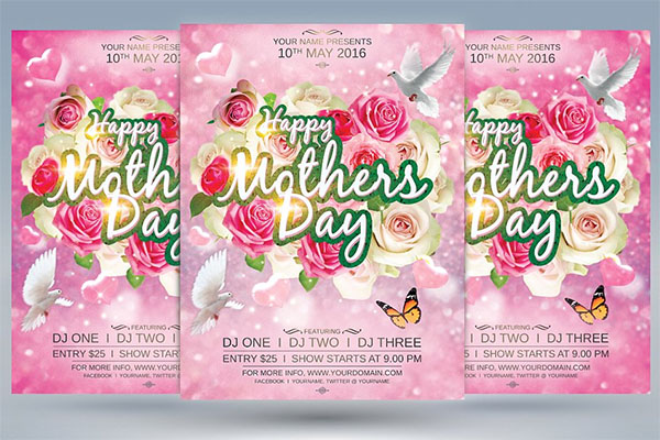 Happy Mothers Day Flyer Design