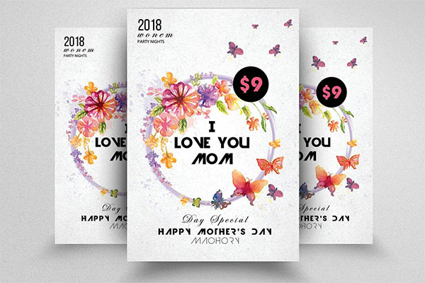 Happy Mothers Day PSD Flyer Design