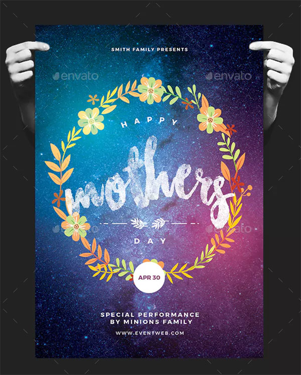 Happy Mother's Day PSD Flyer Templates