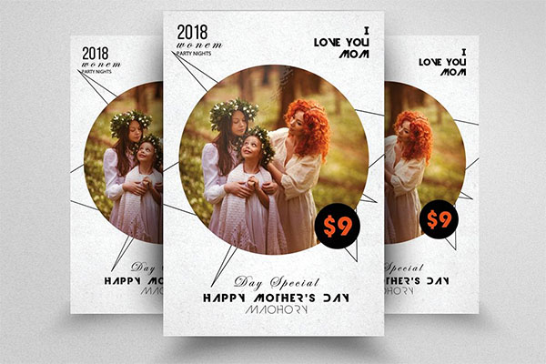 Happy PSD Mothers Day Flyer Templates