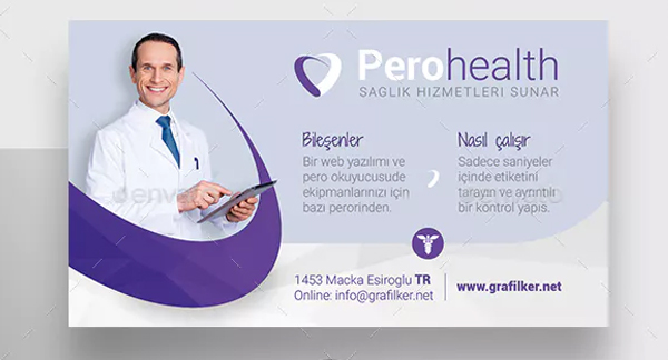 Health Application Business Card Templates