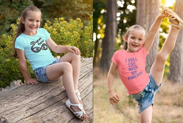 High Quality Photo-Realistic Girls T-shirt Mock-up