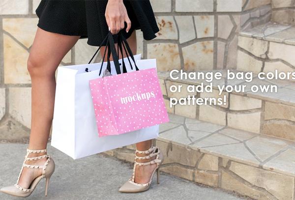 High Quality Shopping Bag Mockups