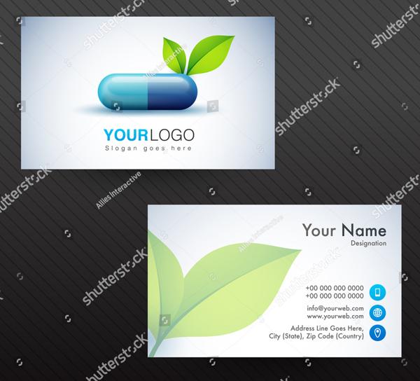 Horizontal Cancer Business Card Templates