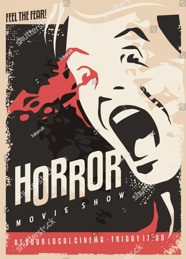 Horror Movie Show Cinema Flyer Design