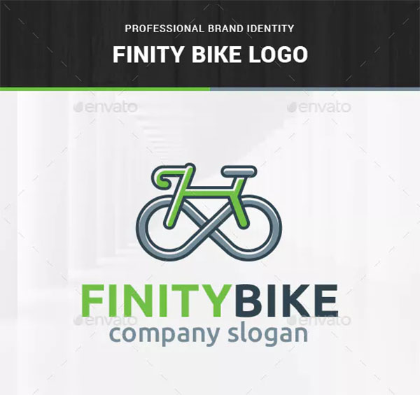 Infinity Bicycle Logo Template