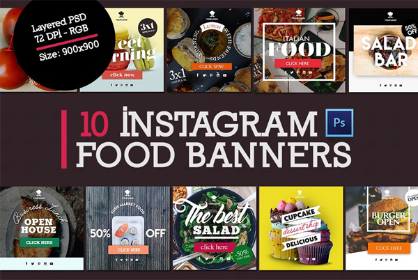 Instagram Food Banners Template