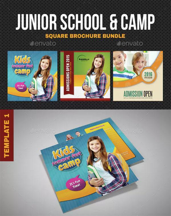 Junior Summer Camp School Brochure Bundle