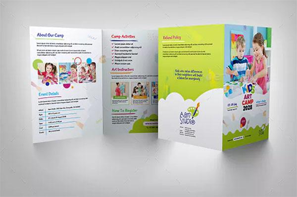 Kids Art Camp Bifold Brochure