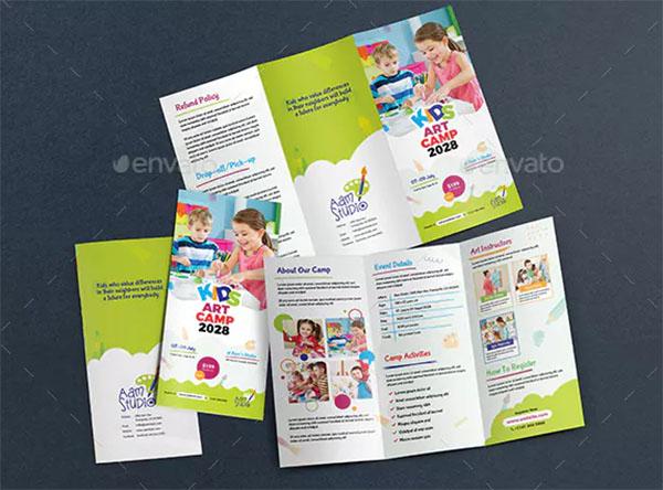Kids Art Camp Trifold Brochure