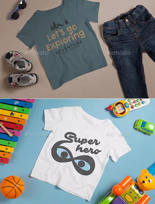 Kids Beach Club T-Shirt Mockup
