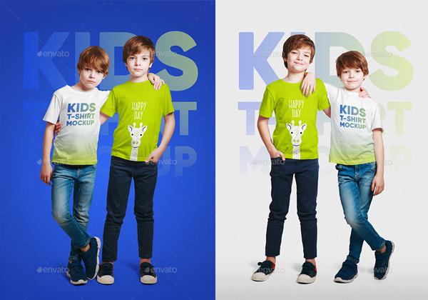 Kids Boy Editable T-Shirt Mockups