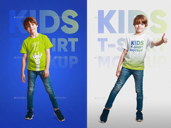 Kids Boy T-Shirt Mockups