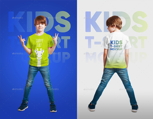 Kids Boy T-Shirt Photoshop Mockups