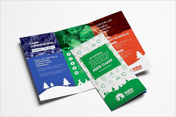 Kids Camp Trifold Brochure Template