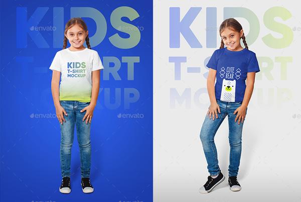 Kids Girl T-Shirt Mockups