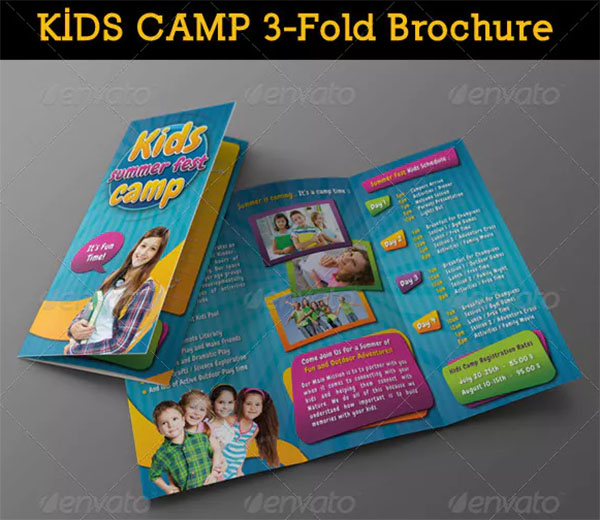 Kids Summer Camp 3 Fold Brochure