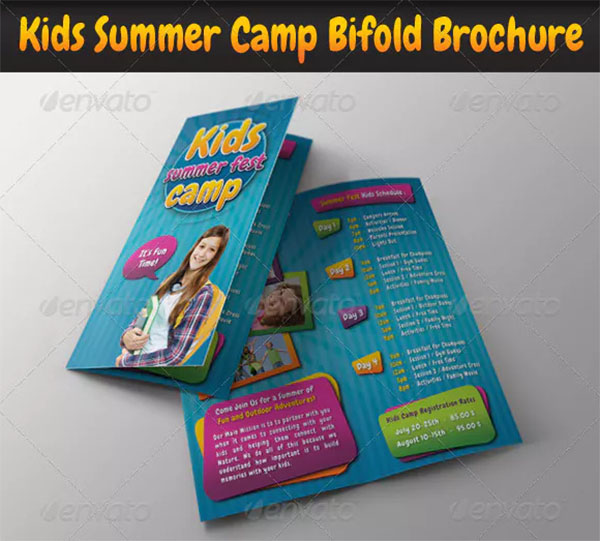 Kids Summer Camp Bifold Brochure