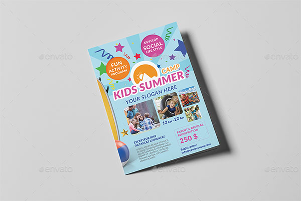 Kids Summer Camp Brochure Template