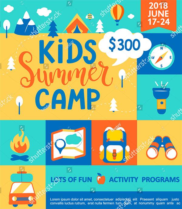 Kids Summer Camp Concept Brochure
