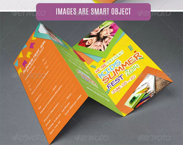 Kids Summer Camp Fest Trifold Brochure