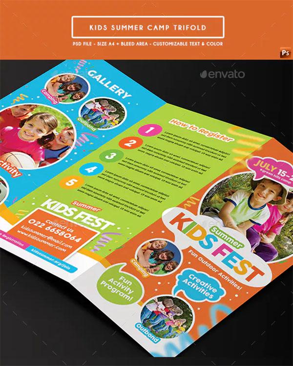 Kids Summer Camp Trifold Design