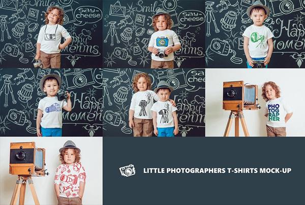 Kids T-Shirt Mock-Up's Mega Bundle