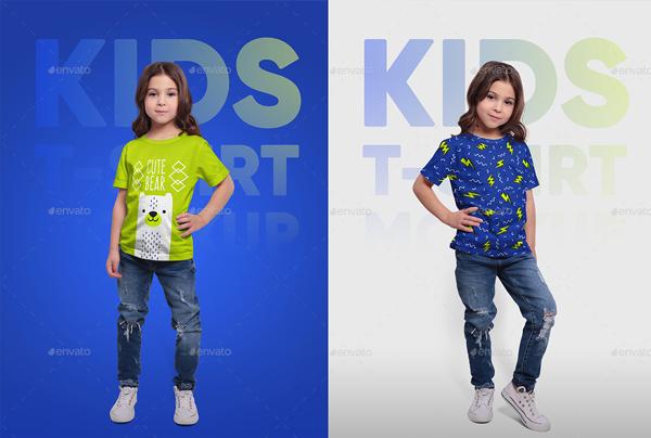 Kids T-Shirt Photoshop Mockups
