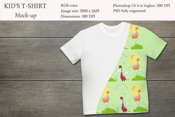 Kids T-shirt Product Mockup