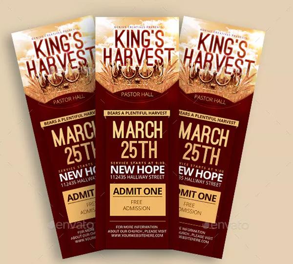 King's Harvest Church Ticket Templates